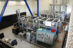 Laboratory equipment for extraction in a solid-supercritical carbon dioxide system